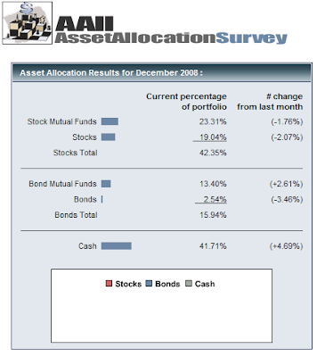 investor asset allocation as of December 2008