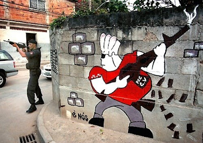 graffiti policia