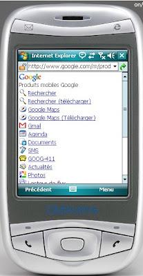 google mobile raccourci de recherche