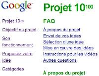 google projet 10 puissance 100