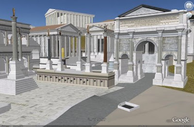 La Rome antique avec Google Earth