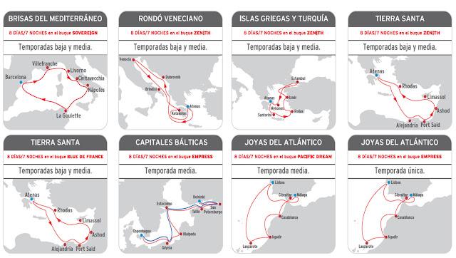 Itinerarios Cruceros Pullmantur
