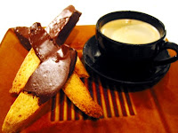 Dark Chocolate Dipped Citrus Biscotti