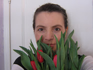 self-portrait with tulips