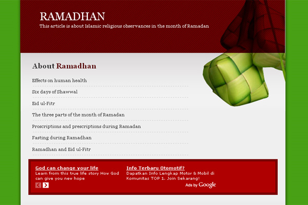 Special Tribute: Ramadhan Template