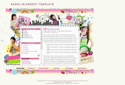 Works #4: KawaiiBlog theme is Available for Blogger XML Template