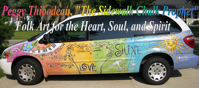"Peggy Thibodeau,  ""The Sidewalk Chalk Prophet"""