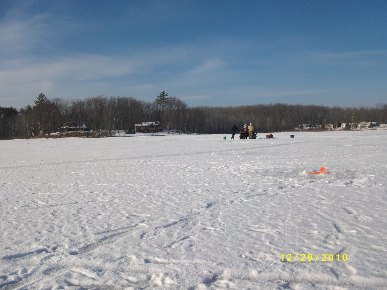 Houghton lake walleye report pratt lake 12 29 10 for Enid lake fishing report