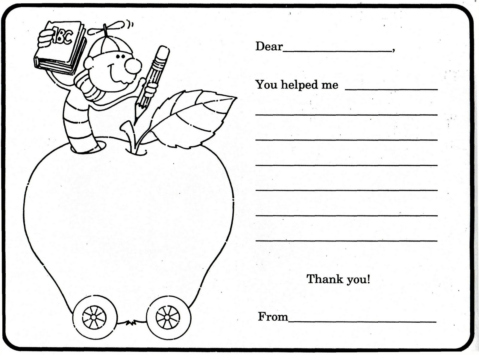 Free Coloring Pages Of Thank You Cards For Girls