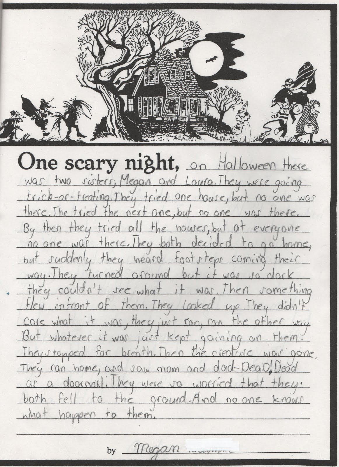 spooky essays (finish the story) write a halloween poem using the following words: bat,  pumpkin, candy, spooky, night, orange, black, witch, scary, wind write a recipe  for a.
