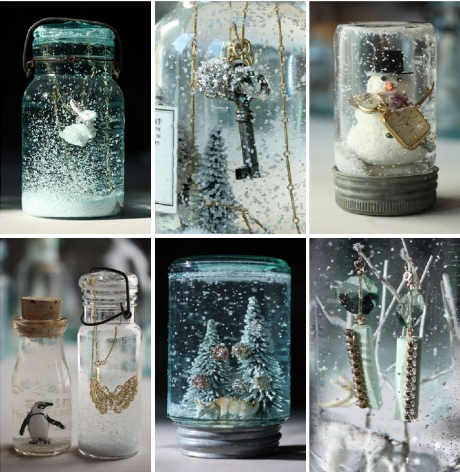 grand design mason jar snow globes. Black Bedroom Furniture Sets. Home Design Ideas