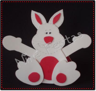 Como fazer um lindo coelho da páscoa de EVA