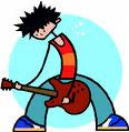 Cartoon Kid With Guitar