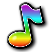 Colorful Musical Note