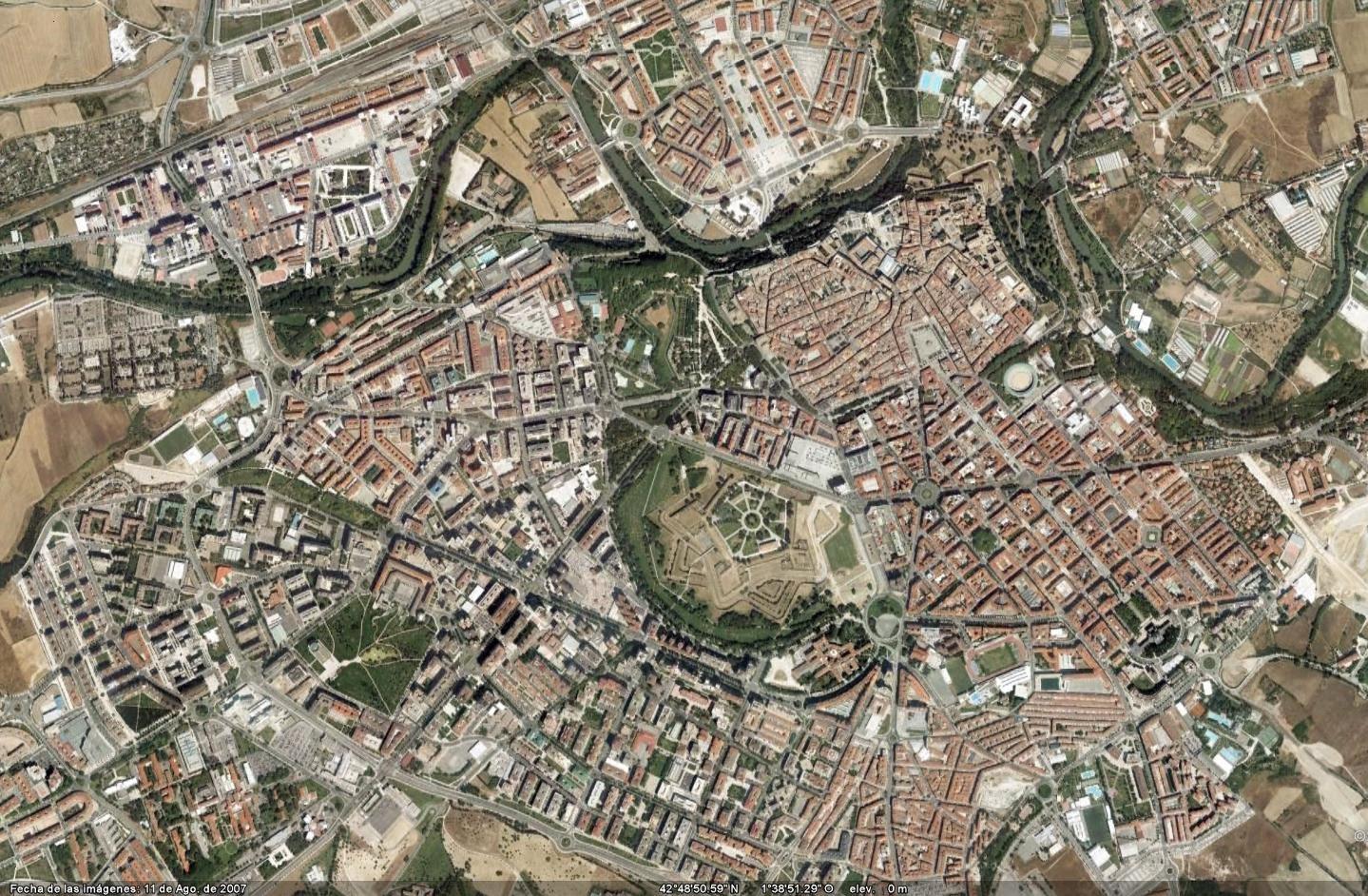 Plano urbano de Pamplona