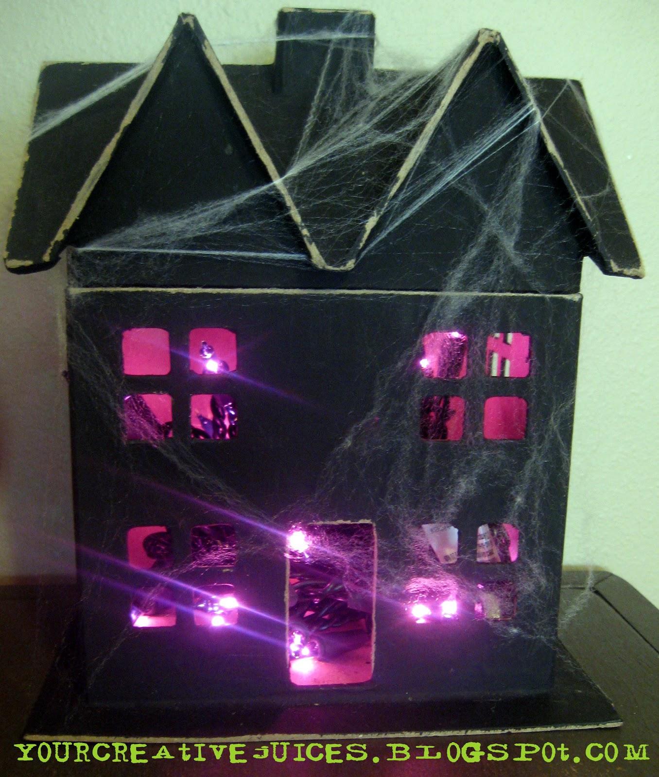 Creative juices spoooooky ideas for How to make a cardboard haunted house