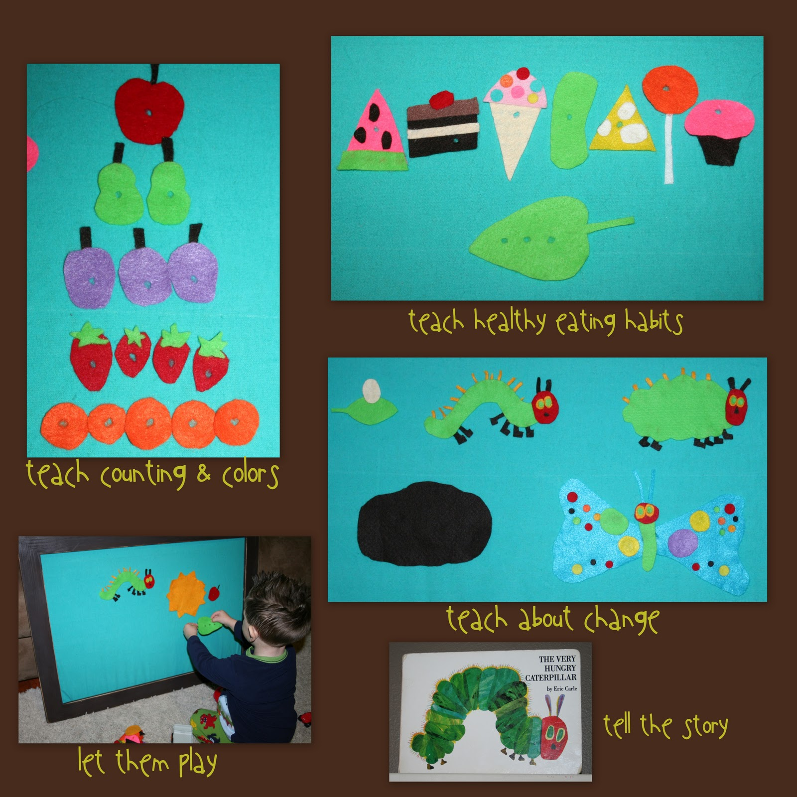 Creative juices the very hungry caterpillar felt story