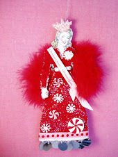 The Christmas Queen paperdoll ornament