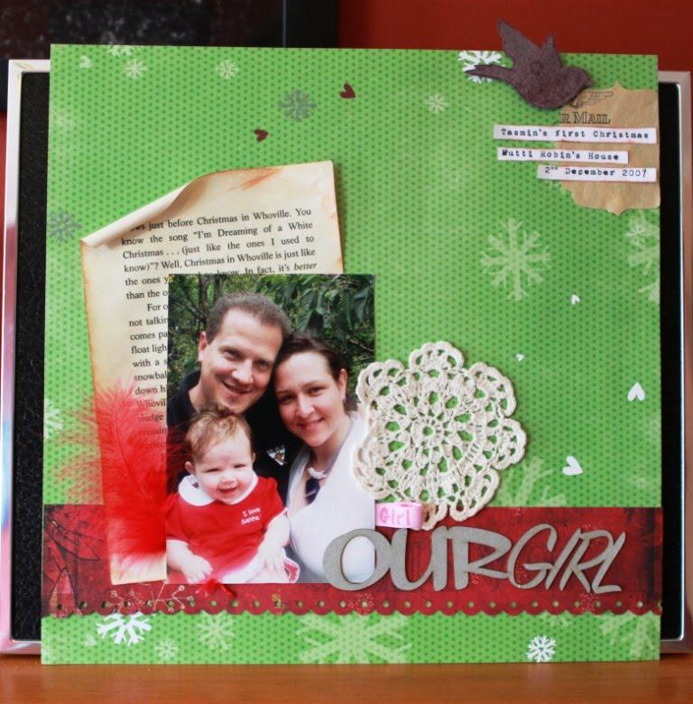 Rock Paper Scissors Scrap Scrapbooking Layout Babys First Christmas