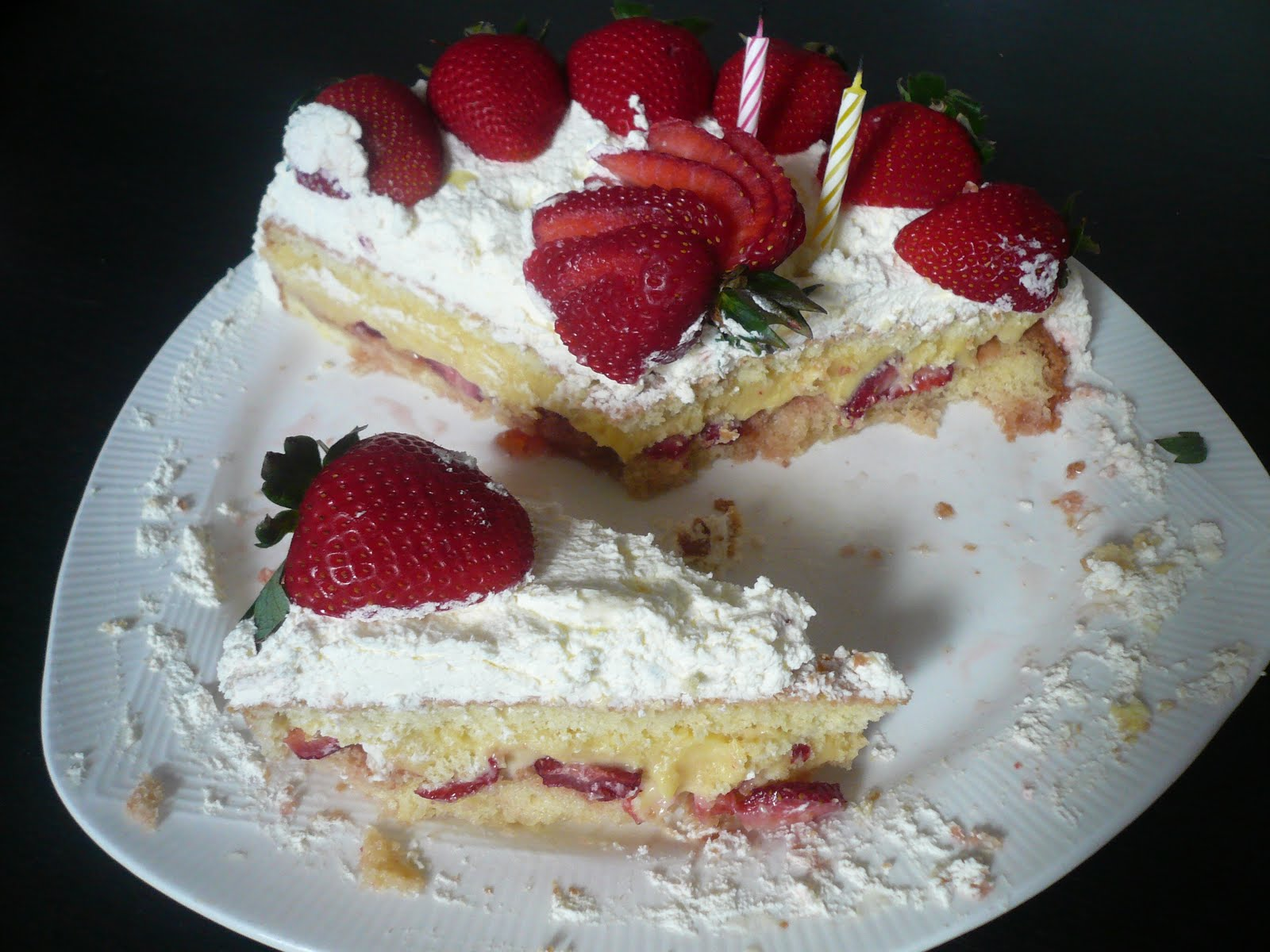 Girl with Spoon: Strawberry Cream Cake