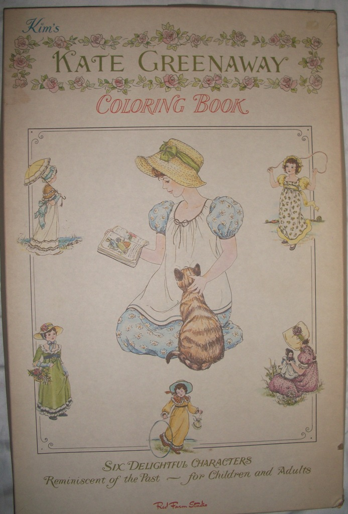 My Vintage News: Vintage and Rare Kate Greenaway Coloring Book circa ...