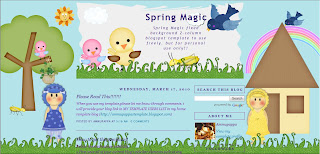 Spring Magic Blogger Layout