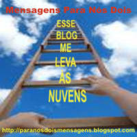 "Selo ""ESSE BLOG ME LEVA AS NUVENS"""