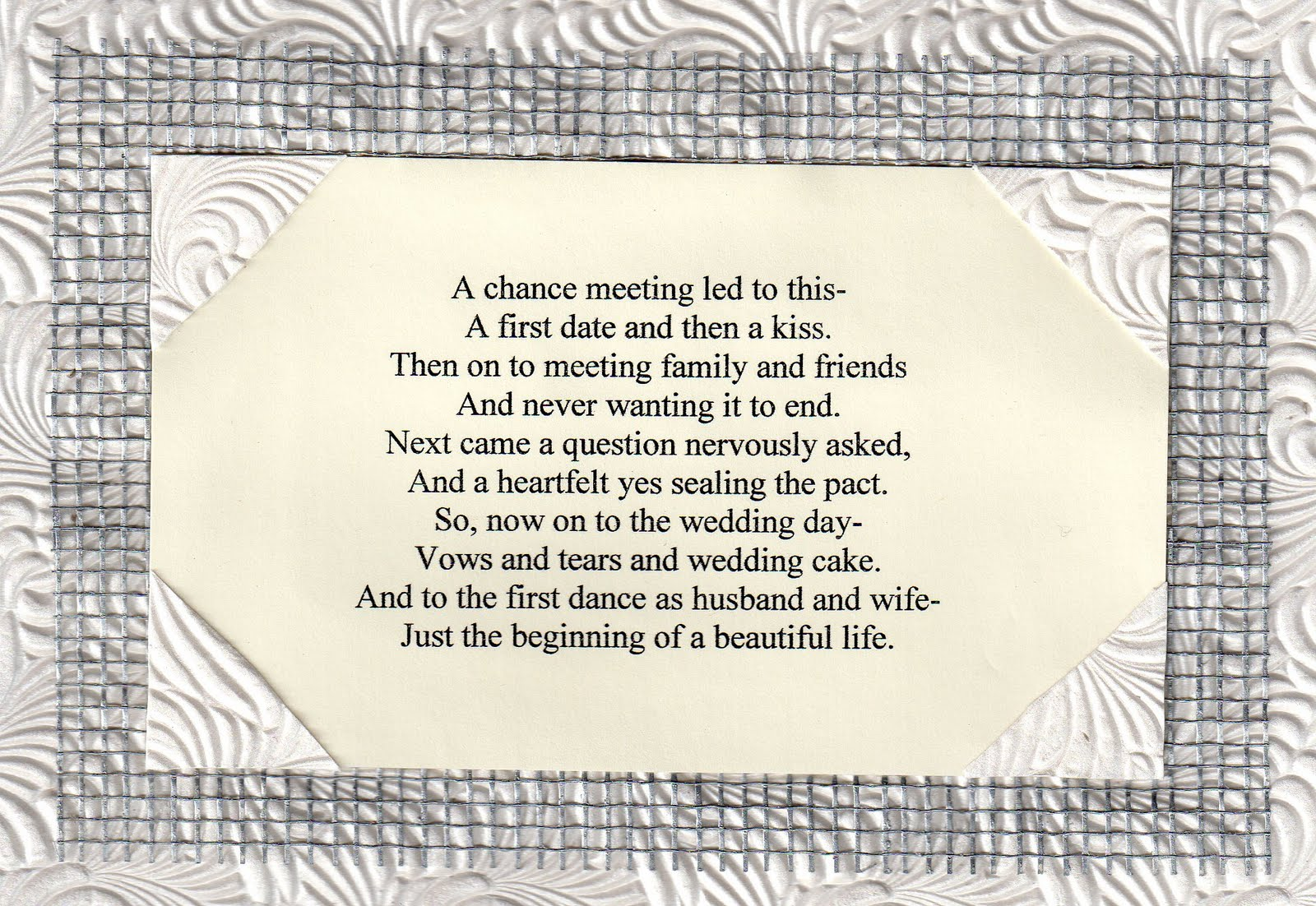 Wedding Welcome Poem Www Topsimages Com