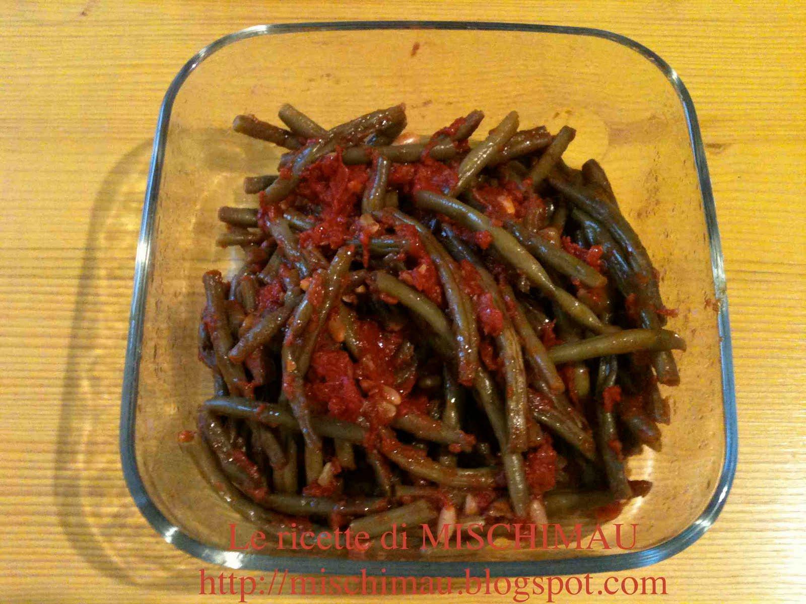 Le ricette di mischimau fagiolini al pomodoro - Cucinare i fagiolini ...