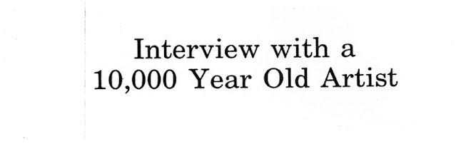 entrevista a uma artista com 10000 anos