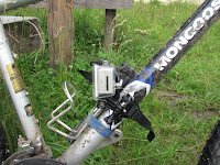 GoPro Improvised Bike Frame Mount out of Helmet Mount