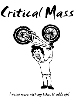 Cycling T-shirt Design - Bikelift Critical Mass