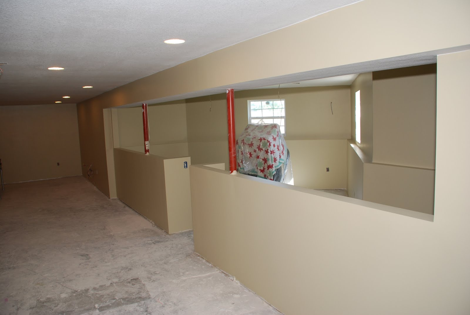 20 Gallons of paint + 2 days = Painted Basement