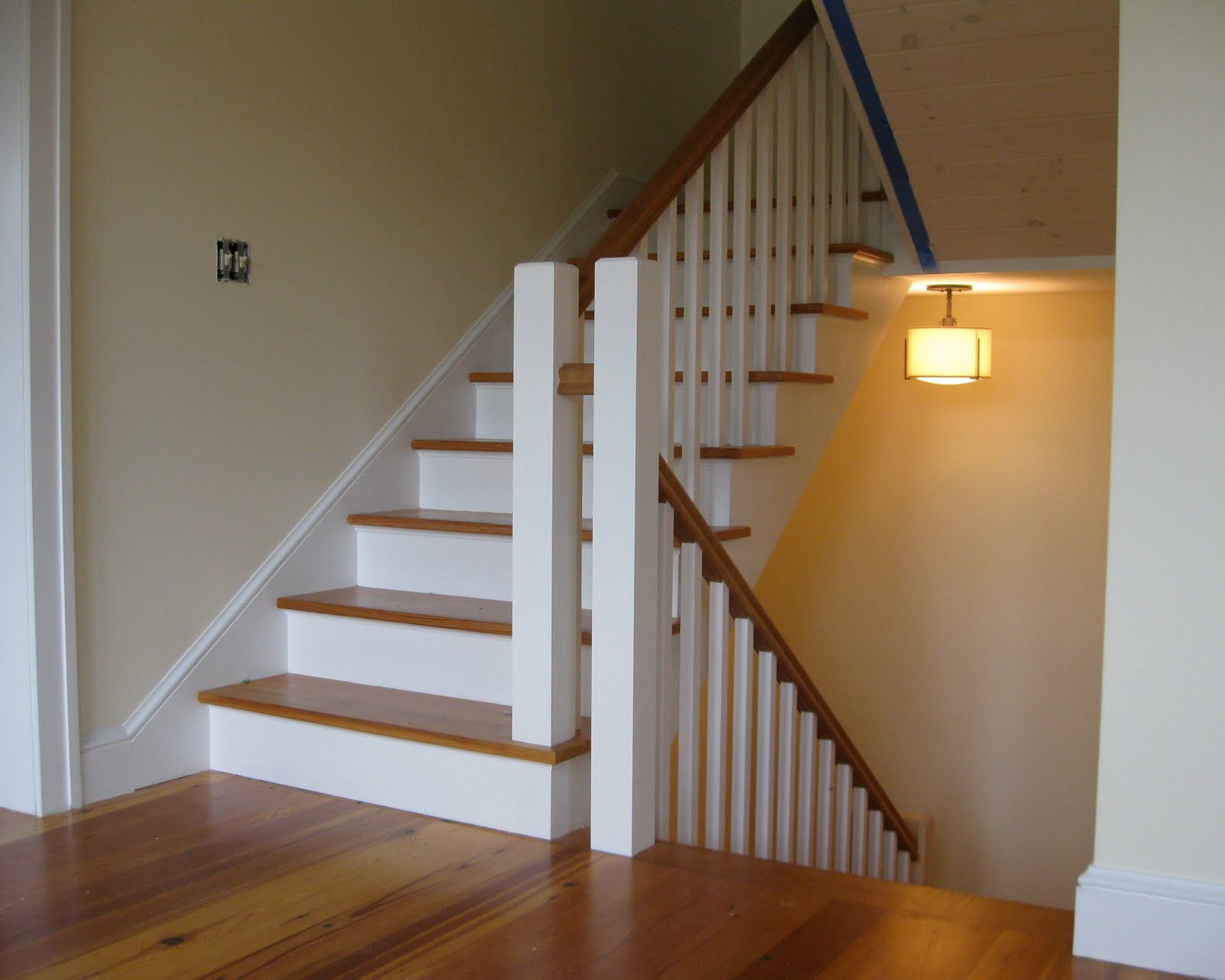 New vermont farmhouse stairs for Farmhouse stairs