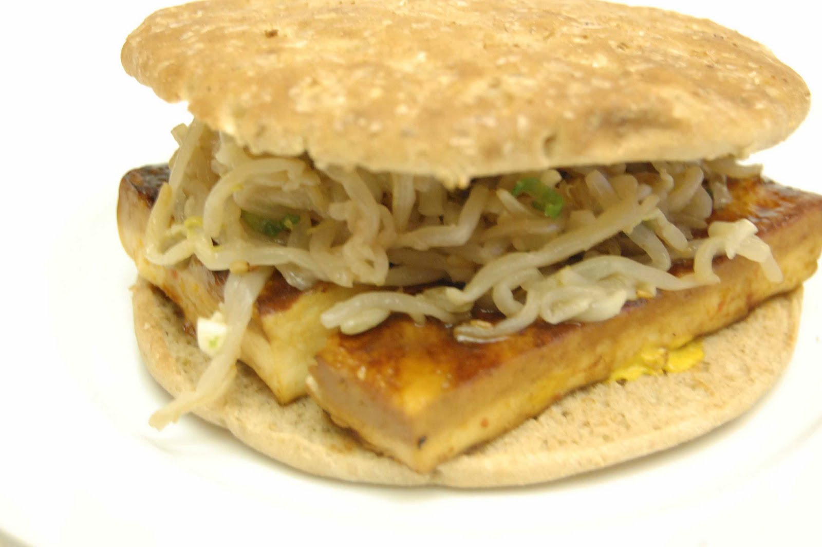 Bread + Butter: Grilled Tofu Sandwich with Korean Bean Sprouts