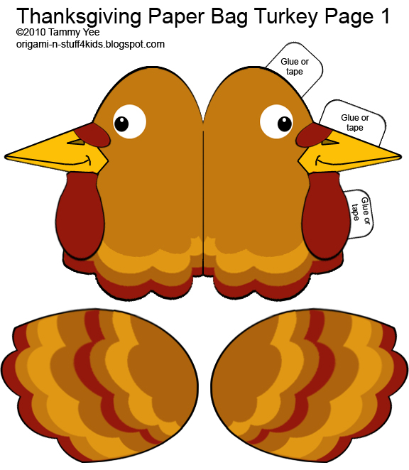 Papercraft Paper Crafts For Kids Thanksgiving