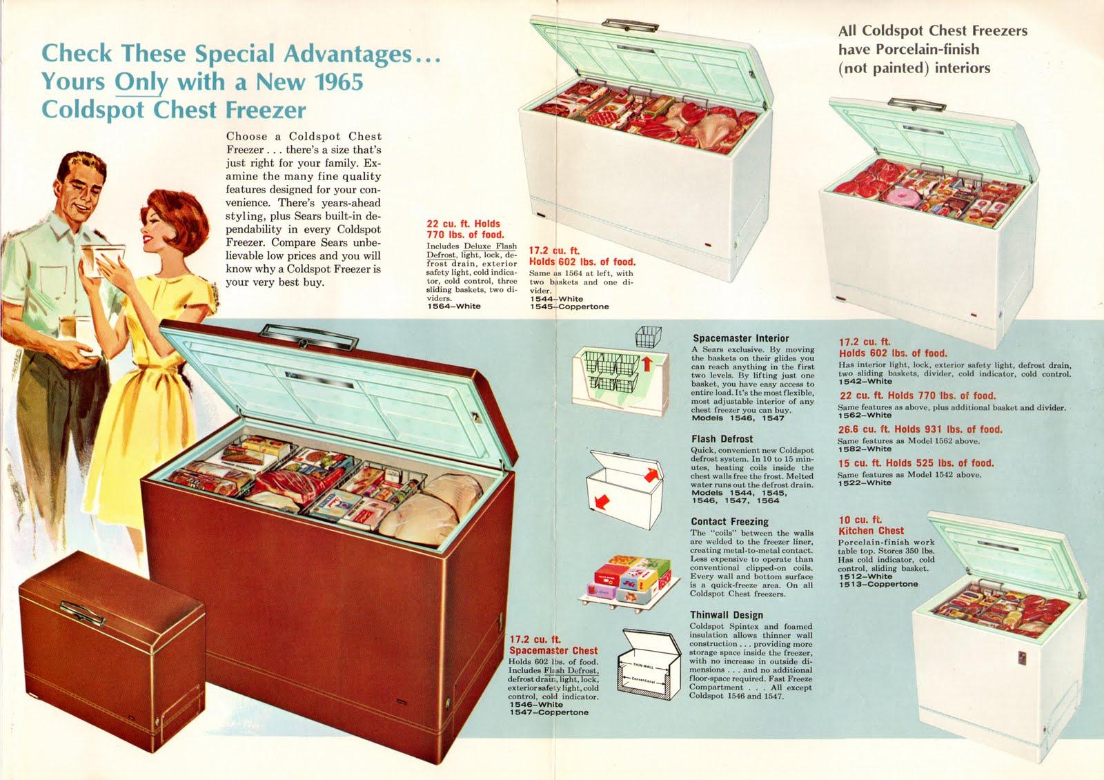 50 Cu Ft Chest Freezer Sears Kenmore Pro 295 Cu Ft