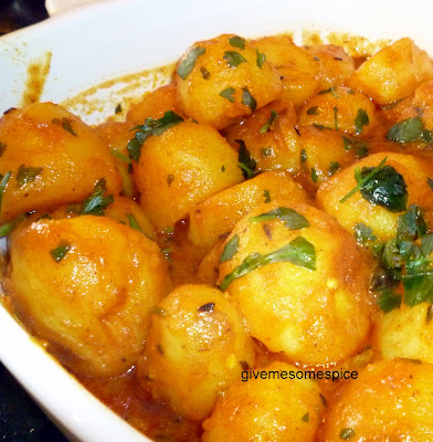 ... Indian Traditional Food | Step-by-step Instructions: New Potato Curry