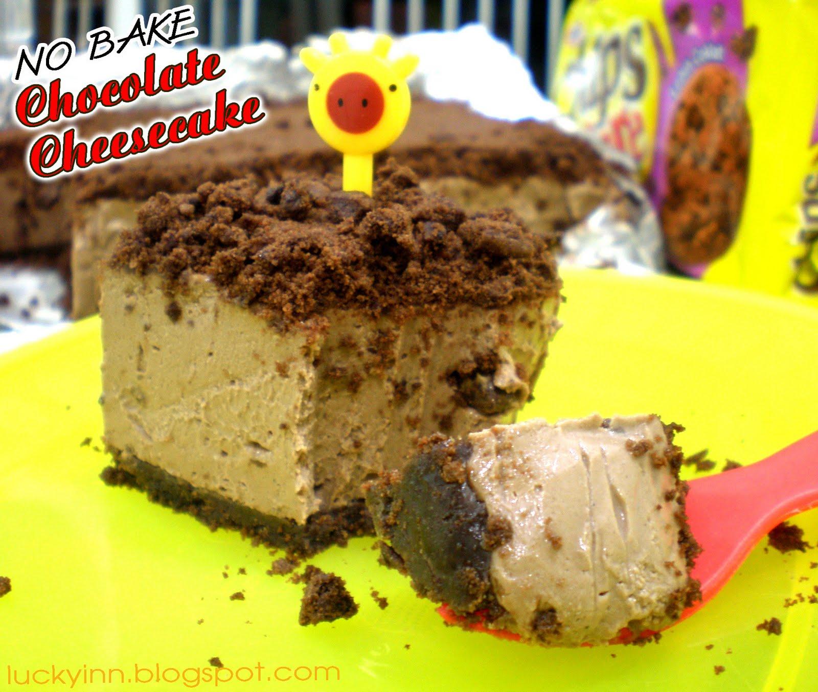 Lucky Inn: No Bake Chocolate Cheesecake