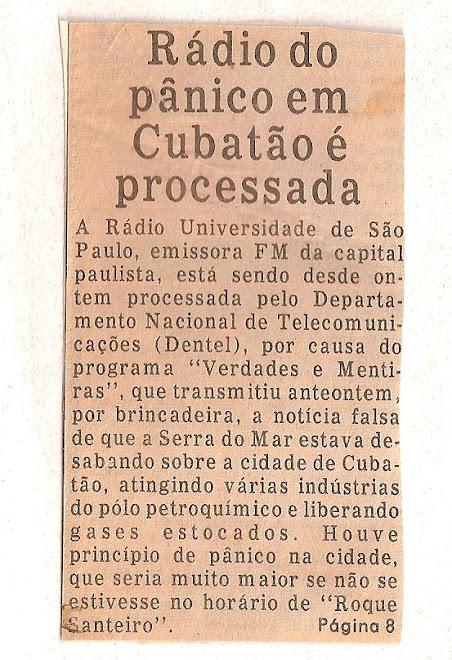Radio do pânico em Cubatão é processada.