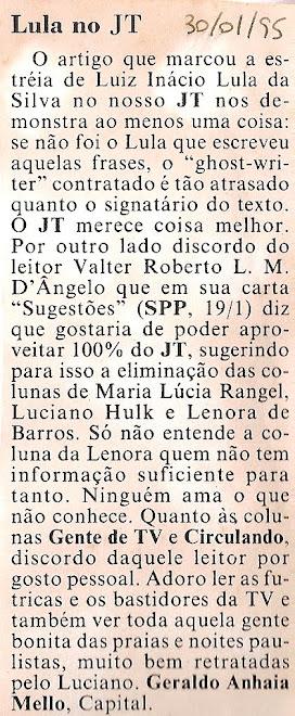 Lula no JT