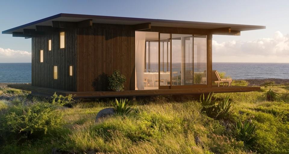 La madera en la arquitectura casas de madera minimalistas for Casas de madera pequenas