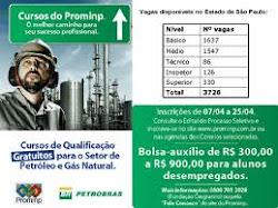 Prominp: cerca de 28 mil vagas em cursos gratuitos sobre Petróleo e Gás