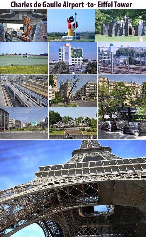 Charles de Gaulle Airport - Eiffel Tower, Paris