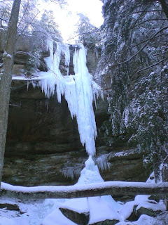 frozen waterfall by Conkles Hollow