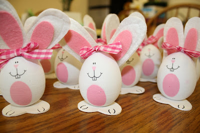 Hard-boiled Easter Egg bunny craft, Easter crafts, kids crafts