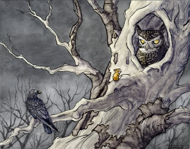 branches  the art of heather bickel  mrs  frisby meets the owl