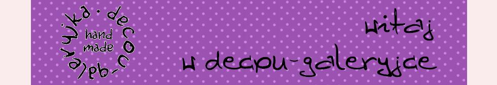decou-galeryjka | anioły, filc i decoupage