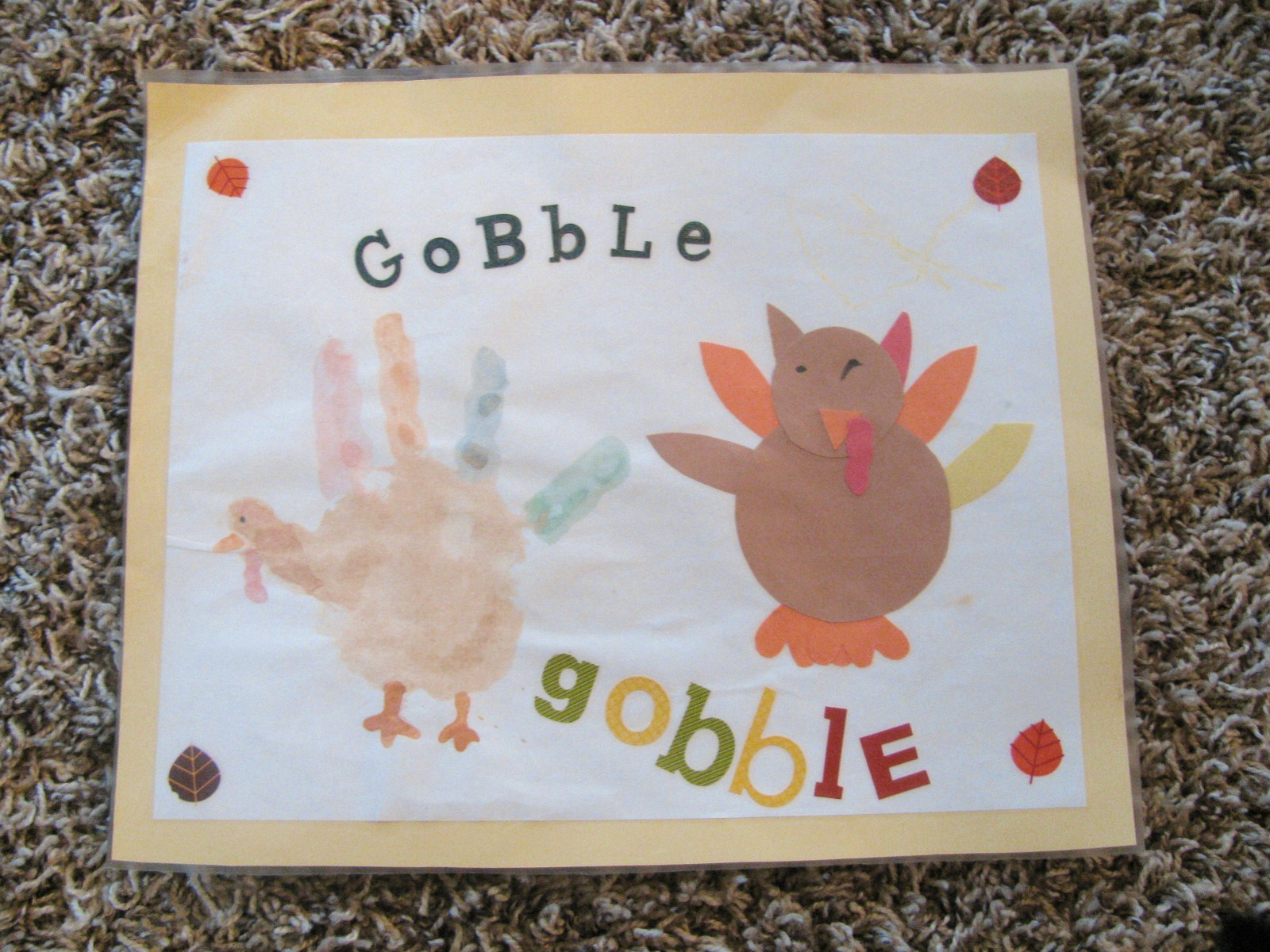 Preschool Thanksgiving Placemat Craft