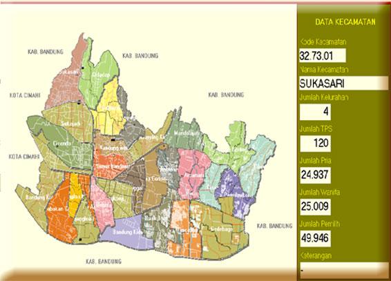 Peta Kecamatan Di Kota Bandung